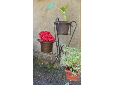 Bytový stojan na květiny-černý