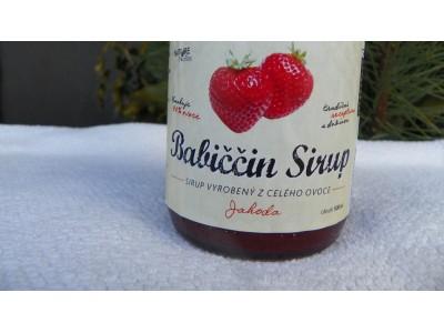 Babiččín sirup-Jahoda
