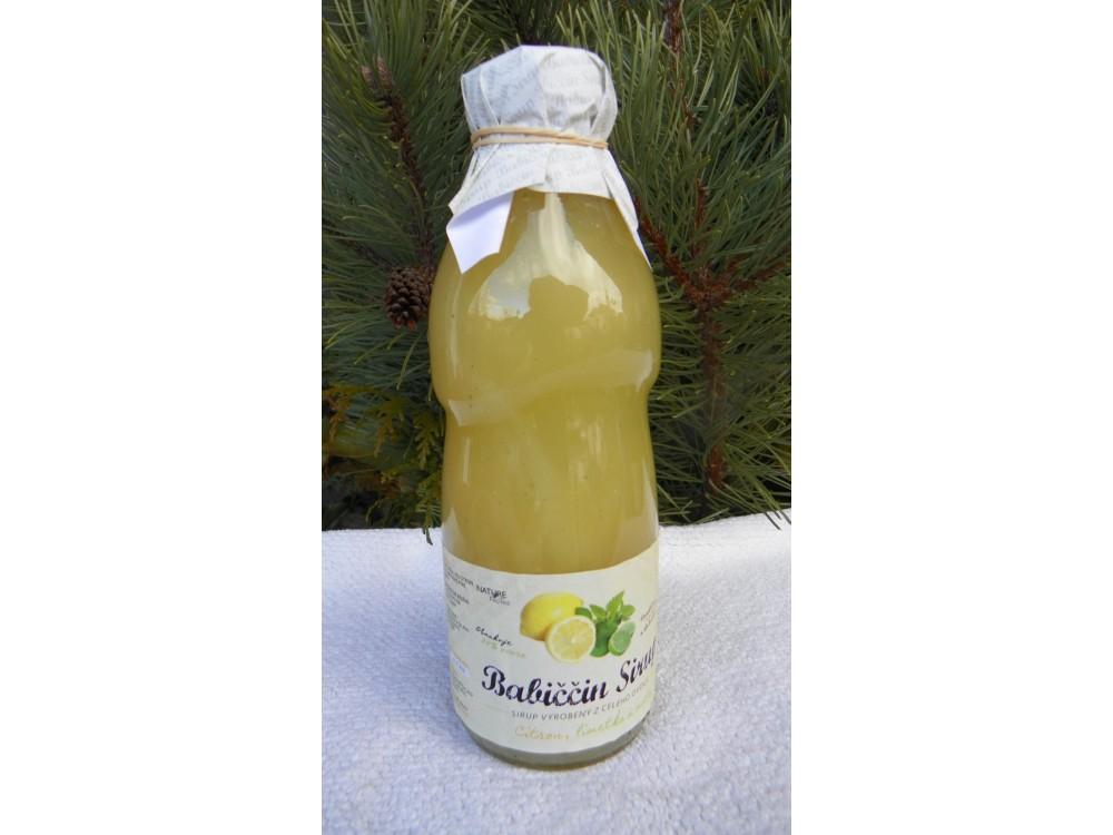 Babiččin sirup   citron-limetka-máta