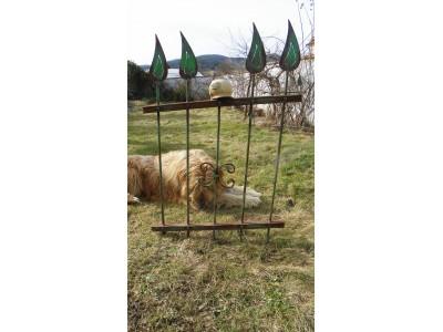 Rustikální rezavý plot.70x100cm