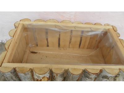 Truhlík z březového dřeva 40x20cm