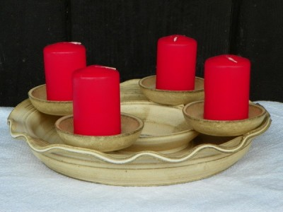 Věnec Adventní keramický pískový