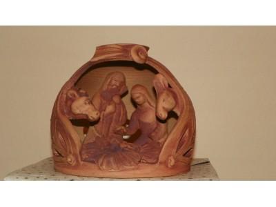 Betlém keramický kulatý režný