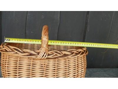 Košík proutěný farmářský 32x15cm