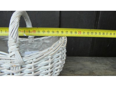 Koš piknikový na aranžování bílý 40x17cm