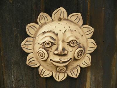 Keramické slunce. cca.32cm