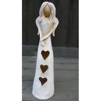 Anděl lásky srdíčko 34cm