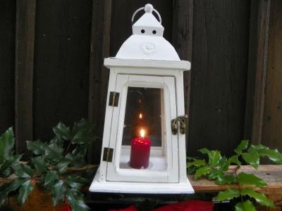 Lampa bílá s kroužkem