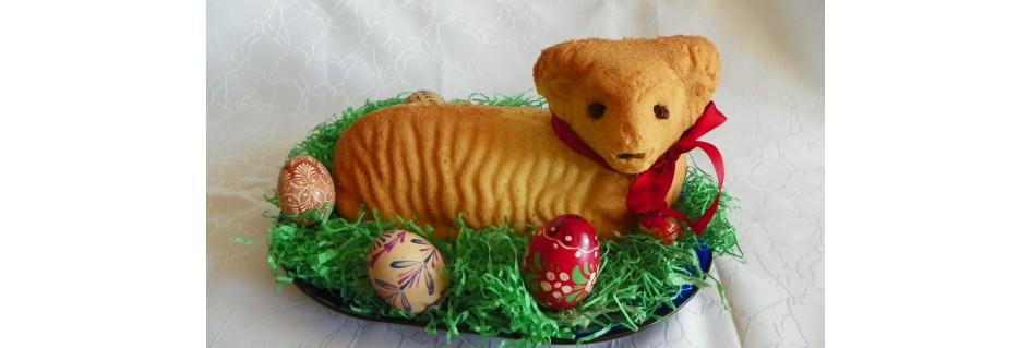 Velikonoce-Formy na pečení beránka, řechtačky-dekorace,